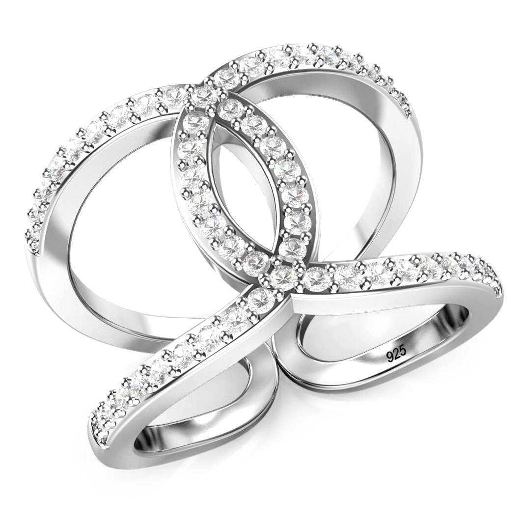 925 Sterling Silver Cubic Zirconia CZ Band Ring