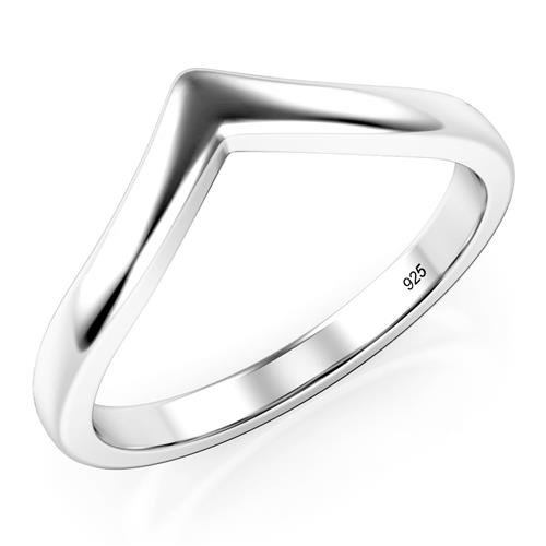 Metal Factory 925 Sterling Silver Chevron Stackable Ring